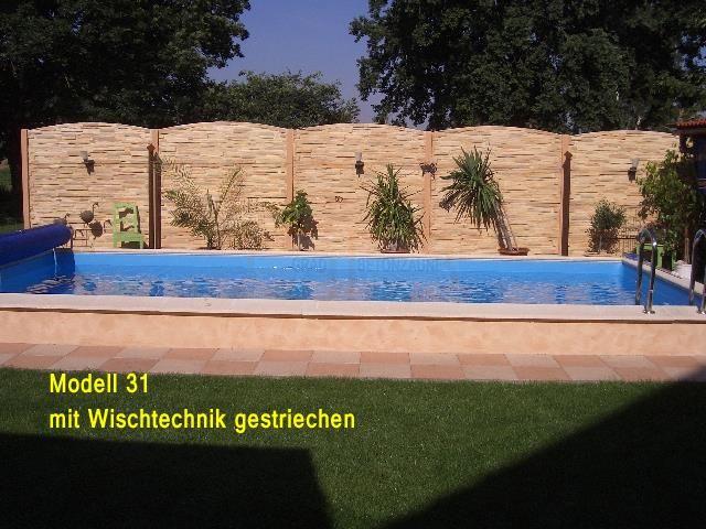 Betonzaun modell 31 ber 20 lfm 2 1m hoch for Quick up pool 120 hoch