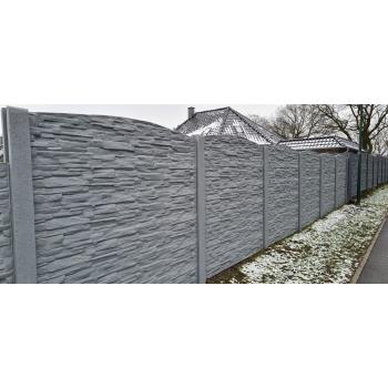 Betonzaun Hornbach modell 31 über 20 lfm 2 1m hoch